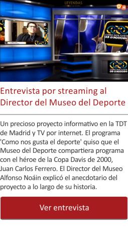 Entrevista por streaming al Director del Museo