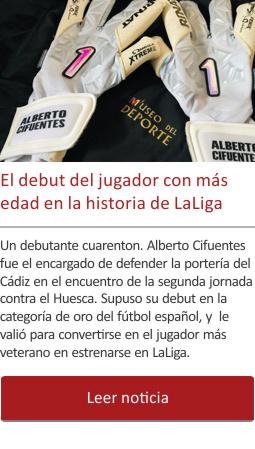 El jugador de más edad que debutó en LaLiga