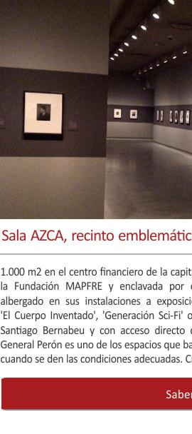 La sala AZCA, un recinto emblemático para exposiciones en Madrid