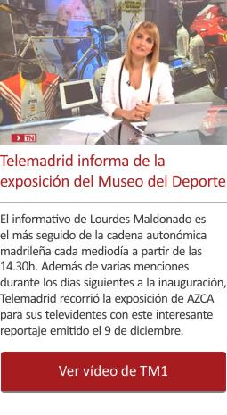 Telemadrid informa de la exposición del Museo del Deporte