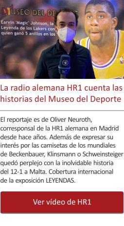 La radio alemana HR1 cuenta las historias del Museo del Deporte