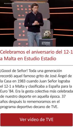 Celebramos el aniversario del 12-1 a Malta en Estudio Estadio