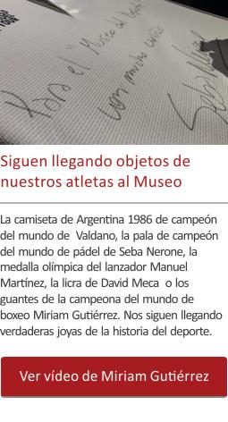 Siguen llegando objetos de nuestros atletas al Museo