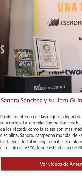 Sandra Sánchez entra en el libro Guinness en el Museo del Deporte
