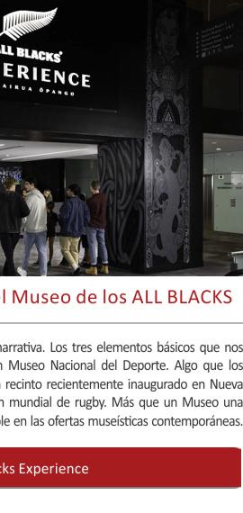 La experiencia inmersiva del Museo de los ALL BLACKS