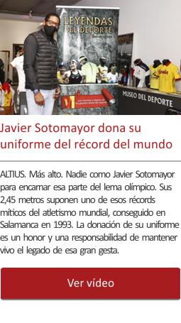 Javier Sotomayor dona su uniforme del récord del mundo