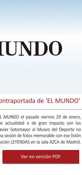 El Museo del Deporte en la contraportada de EL MUNDO