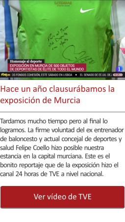 Hace un año clausurábamos la exposición de Murcia