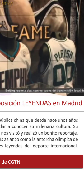 La TV china CGTN visita la exposición LEYENDAS en Madrid