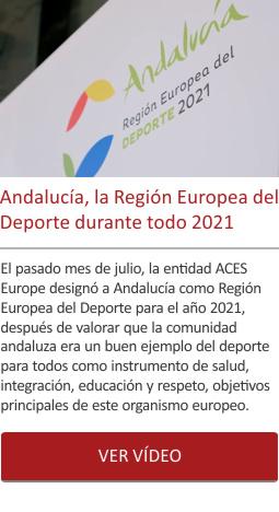 Andalucía, la Región Europea del Deporte durante todo 2021.