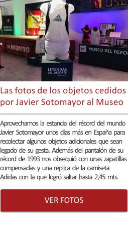 Las fotos de los objetos cedidos por Javier Sotomayor al Museo