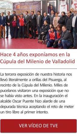 Hace 4 años exponíamos en la Cúpula del Milenio de Valladolid