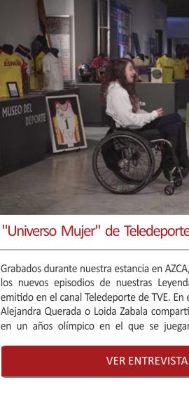 El Universo Mujer Deporte en Teledeporte grabado en el Museo