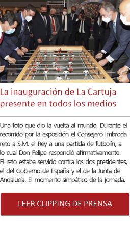 La inauguración de La Cartuja presente en todos los medios.
