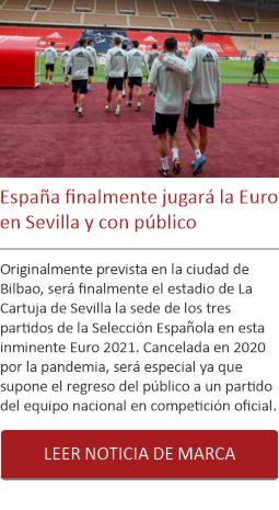 España finalmente jugará la Euro en Sevilla y con público