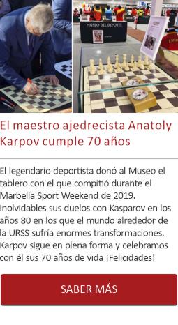 El maestro ajedrecista Anatoly Karpov cumple 70 años