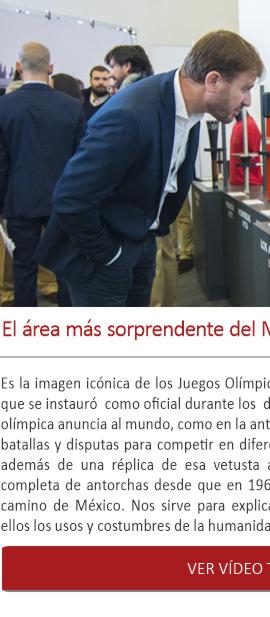El área más sorprendente del Museo: las antorchas olímpicas