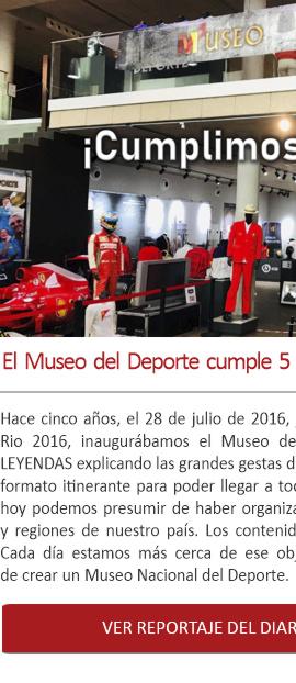 El Museo del Deporte cumple 5 años de exposiciones itinerantes