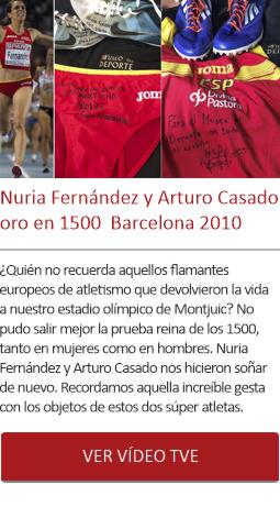 Nuria Fernández y Arturo Casado oro en 1500  Barcelona 2010