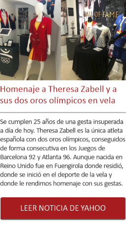 Homenaje a Theresa Zabell y a sus dos oros olímpicos