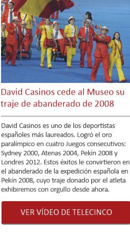 David Casinos cede al Museo su traje de abanderado 2008