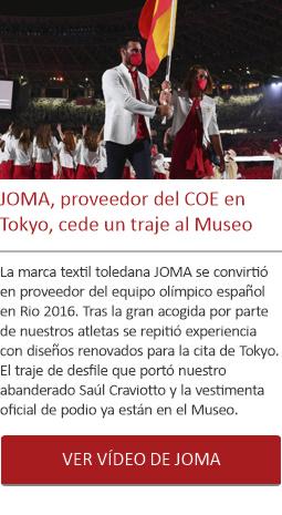 JOMA, proveedor del COE en Tokyo, dona un traje al Museo