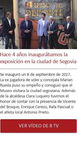 Hace 4 años inaugurábamos la exposición de Segovia