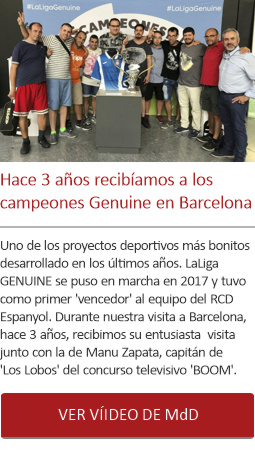Hace 3 años LaLiga Genuine en Barcelona