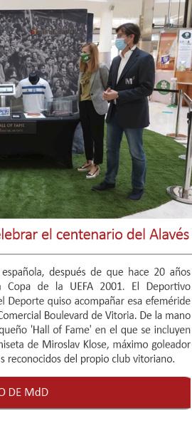 Hall of Fame en Vitoria para celebrar el centenario del Alavés