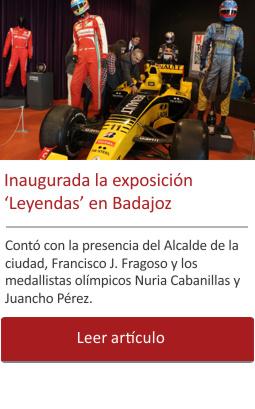 Inaugurada la exposición de Badajoz con la presencia del Alcalde Fco. Javier Fragoso.