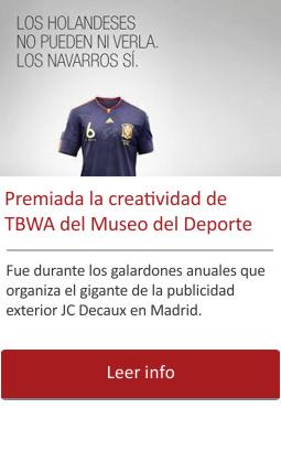La creatividad de TBWA del Museo del Deporte galardonada en los Premios JCDecaux 2017.