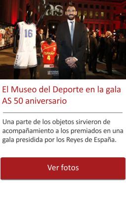 El Museo del Deporte presente en la gala de los 50 años del diario AS.