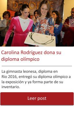 La gimnasta Carolina Rodríguez dona su diploma olímpico al Museo.