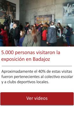 5.000 personan visitaron la exposición en Badajoz.