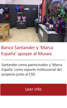Banco Santander y Marca España apoyan al Museo.