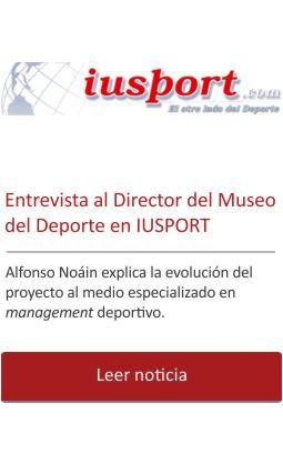 Entrevista al Director en IU Sport.